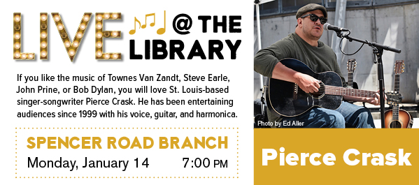 Live @ the Library: Pierce Crask